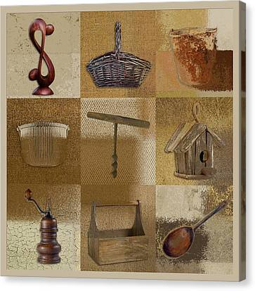 Multi Home Decor - Beige 140076149xfr Canvas Print by Variance Collections