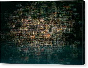 Complex Canvas Print - Multi House by Roberto Marini