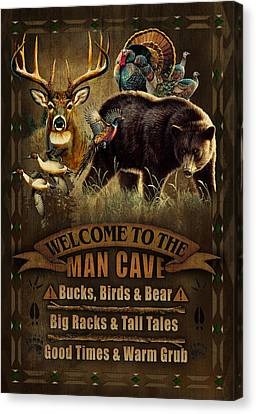 Multi Specie Man Cave Canvas Print by JQ Licensing