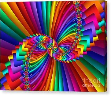 Multichrome 5 Canvas Print by TJ Art