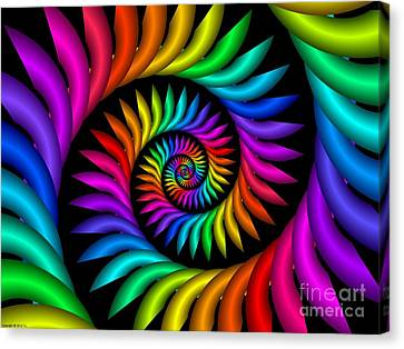 Multichrome  9 Canvas Print by TJ Art
