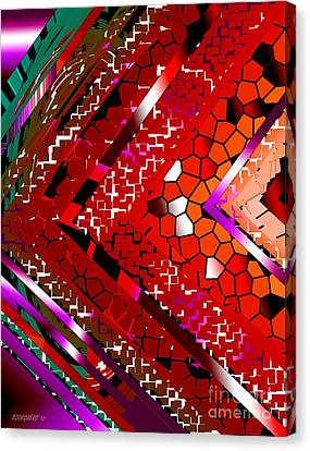 Multicolored Abstract Art Canvas Print by Mario Perez