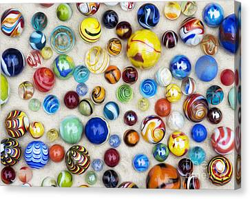 Multicoloured Marbles Canvas Print by Tim Gainey