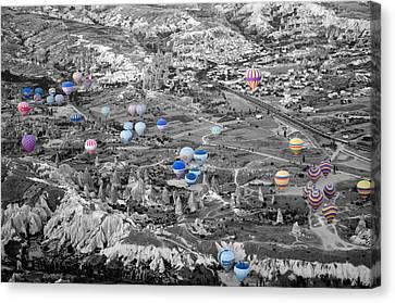 Multiple Balloons Canvas Print by Ernesto Cinquepalmi