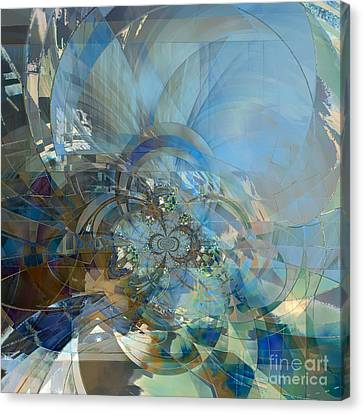 Canvas Print featuring the digital art Multiple Dimensions by Ursula Freer