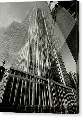 Multiple Exposure Of The Empire State Building Canvas Print
