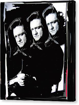 Canvas Print featuring the photograph Multiple Johnny Cash Sitting Old Tucson Arizona 1971-2008 by David Lee Guss