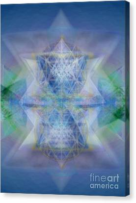 Multivortex 3d Chalice With Horizontal Vortexes Canvas Print by Christopher Pringer