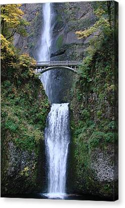 Canvas Print featuring the photograph Multnomah Falls by Athena Mckinzie