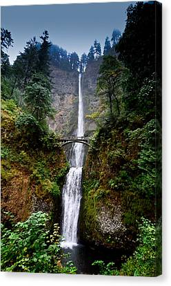 Multnomah Falls Oregon State Waterfall Canvas Print by Puget  Exposure