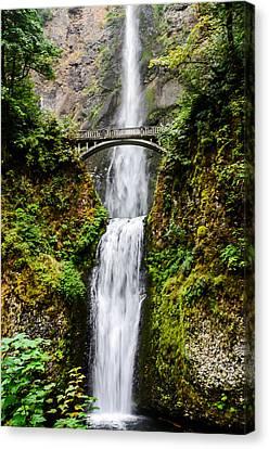 Multnomah Falls Oregon Waterfalls Canvas Print by Puget  Exposure
