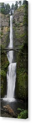 Multnomah Falls Vertical Panorama Canvas Print