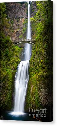 Lush Colors Canvas Print - Multnomah Panorama by Inge Johnsson