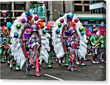 Mummer Color Canvas Print by Alice Gipson