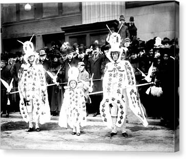 Mummers Circa 1909 Canvas Print by Bill Cannon