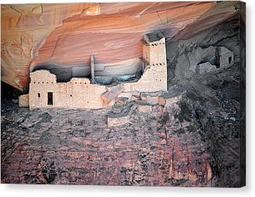 Mummy Cave Ruin Canyon Del Muerto Canvas Print by Christine Till