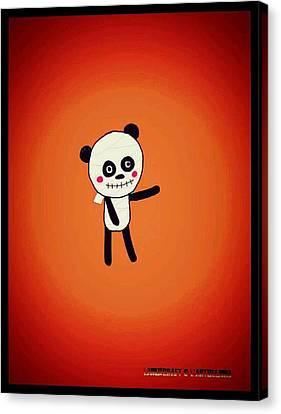 Mummy Panda Canvas Print by Watcharee Suebkhajorn