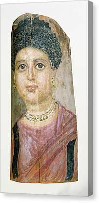 Mummy Portrait Attributed To Malibu Painter Canvas Print