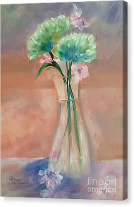 Mums Alla Prima Canvas Print