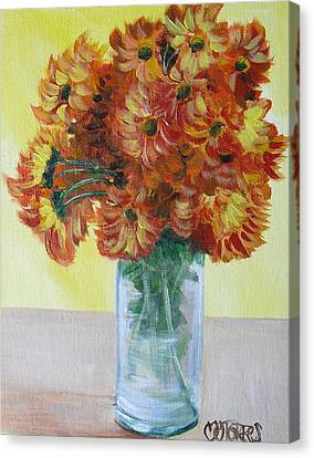 Mums Canvas Print by Melissa Torres