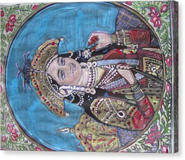 Canvas Print featuring the painting Mumtaz by Vikram Singh