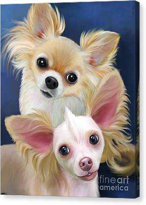 Munchie And Tuffy Canvas Print by Catia Cho
