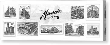 Muncie Indiana A Canvas Print by Thomas Keesling