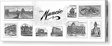 Muncie Indiana B Canvas Print by Thomas Keesling