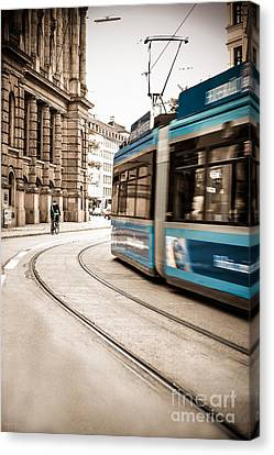Munich City Traffic Canvas Print by Hannes Cmarits