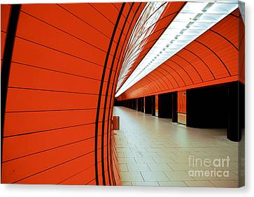 Munich Subway II Canvas Print by Hannes Cmarits