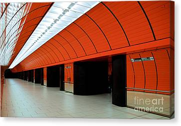 Munich Subway IIi Canvas Print by Hannes Cmarits