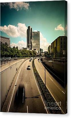 Munich Traffic Canvas Print by Hannes Cmarits
