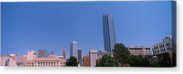 Municipal Building With Devon Tower Canvas Print by Panoramic Images