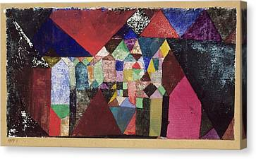 Municipal Jewel Canvas Print by Paul Klee
