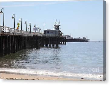 Municipal Wharf At The Santa Cruz Beach Boardwalk California 5d23767 Canvas Print by Wingsdomain Art and Photography