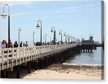 Municipal Wharf At The Santa Cruz Beach Boardwalk California 5d23773 Canvas Print by Wingsdomain Art and Photography