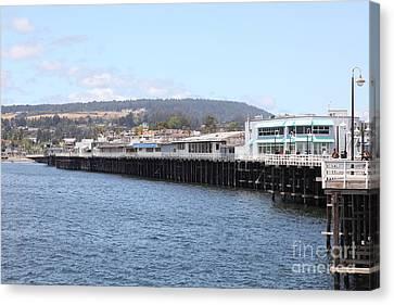 Municipal Wharf At The Santa Cruz Beach Boardwalk California 5d23813 Canvas Print by Wingsdomain Art and Photography