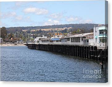 Municipal Wharf At The Santa Cruz Beach Boardwalk California 5d23815 Canvas Print by Wingsdomain Art and Photography
