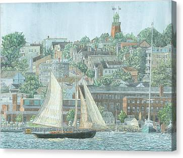 Maine Landscape Canvas Print - Munjoy Hill by Dominic White