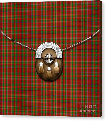 Munroe Canvas Print - Munroe Tartan And Sporran by Chris MacDonald