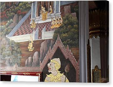 Mural - Grand Palace In Bangkok Thailand - 01133 Canvas Print by DC Photographer