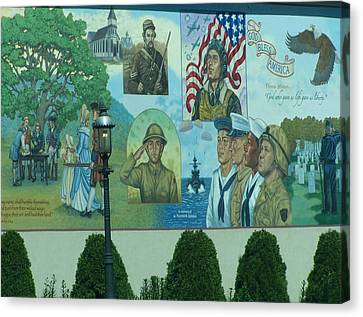 Mural In Memory Of Canvas Print