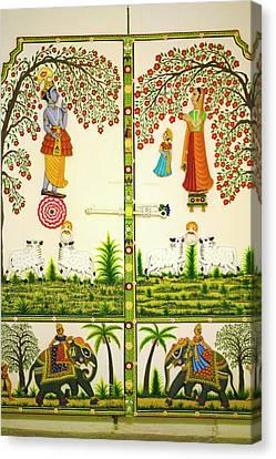 Mural Inside City Palace, Udaipur Canvas Print