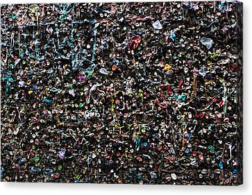 Mural Canvas Print - Mural Made Of Used Chewing Gums by Panoramic Images