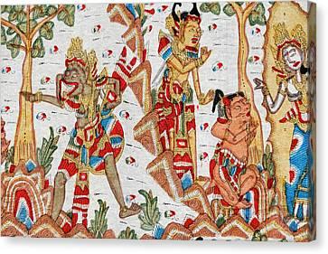 Mural Canvas Print - Mural, Mother Temple Of Besakih by Keren Su