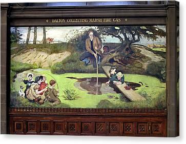 Mural Of John Dalton Canvas Print
