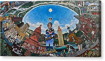 Mural Of Stephen F Austin Off Guadalupe Canvas Print
