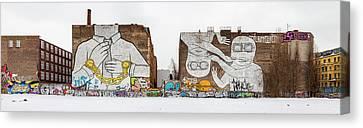 Mural Painting By Graffiti Artist Blu Canvas Print