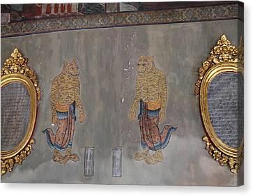 Mural - Wat Pho - Bangkok Thailand - 01132 Canvas Print by DC Photographer