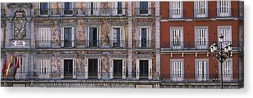 Murals On The Wall Of A Building, Plaza Canvas Print by Panoramic Images